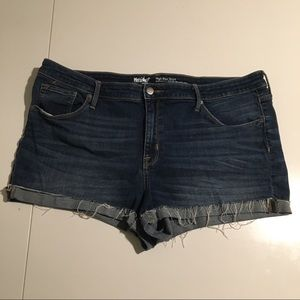 Mossimo High Rise Blue Denim Shorts